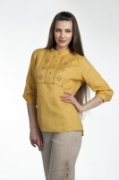 Linen blouse with embroidery