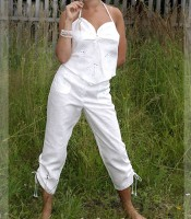 White linen breeches