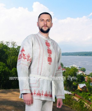 kosovorotka with embroidery, Holy Russia