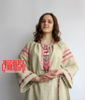 Slavic dress from linen