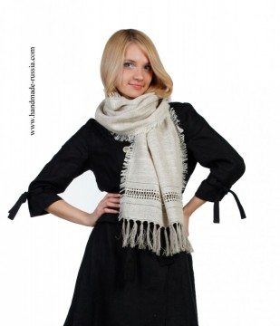 Scarf, buy webmoney, Clothing of flax, Coat of flax, Flax 100%, national clofhe, russia