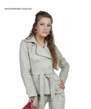 jacket, linen 100%, buy webmoney, national clofhe, russia