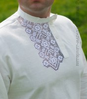 White kosovorotka with embroidery