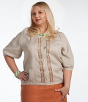 Linen blouse with embroidery 114-16
