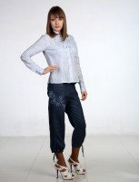 Breeches linen with embroidery