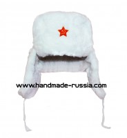 The white shapka-ushanka