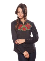 embroidered blouse black