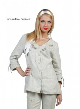 blouse, buy webmoney, Flax 100%, linen, national clofhe, russia