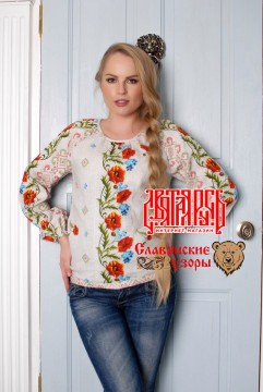 "buy a blouse ""Poppy, Holy Russia"