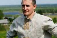 Russian folk shirt (kosovorotka with embroidery)